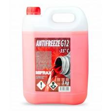 Antifrīzs (sarkanais) Mifrax G12 - 5kg Autoķīmija