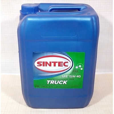 SINTEC TRUCK SAE 15W-40 API CI-4/SL - 20l Smērvielas un eļļas
